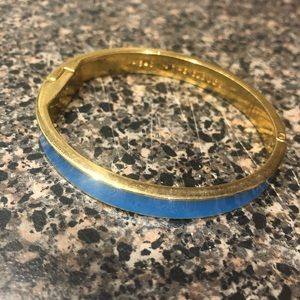 Kate Spade blue and gold bracelet
